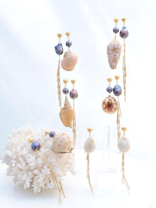 One-of-a-kind Shell Earrings