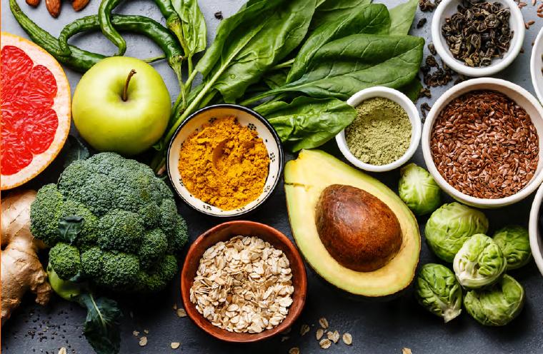Composition de l'alimentation santé variée