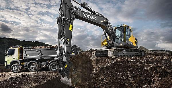 sand-volvo-excavator-truck-the-ground-hd