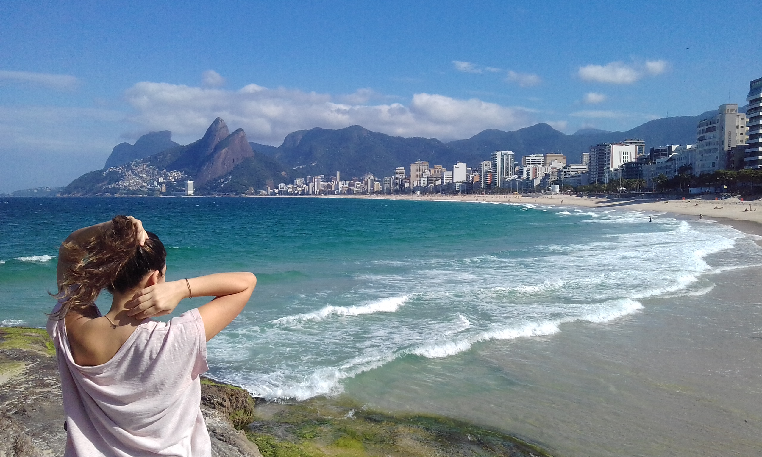 Joanna watching over Rio de Janeiro
