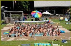 crowded pool photo