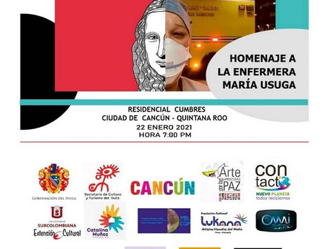 """Art without borders for peace """"Pandemic Renaissance"""" January 22th, 2021 Cancun, Mexico"""