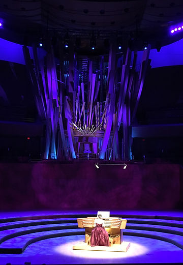 Katelyn Emerson performing on the Walt Disney Concert Hall Glatter-Götz/Rosales organ, Los Angeles, CA