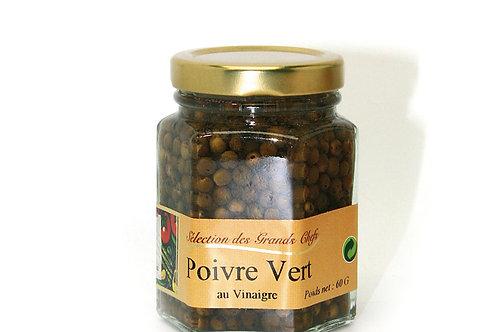 Grains de poivre vert auvinaigre bocal100ml60g