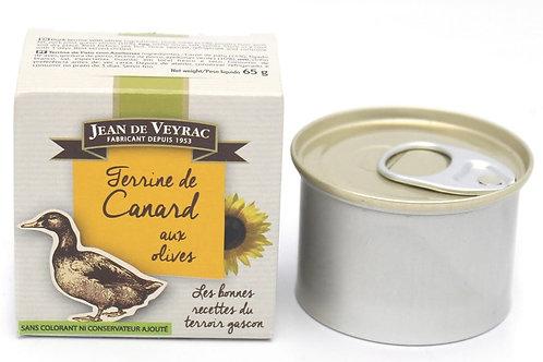 Terrine de canard aux olives 65g