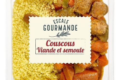 Couscous viande et semoule barquette350g