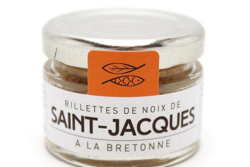 Rillettes de noix de Saint-Jacques bretonnes bocal30g