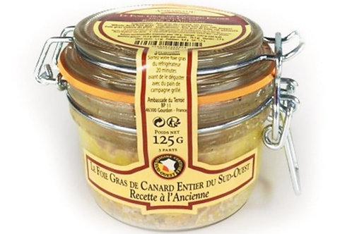 Foie gras de canard entier IGP Sud-Ouest bocal 125g