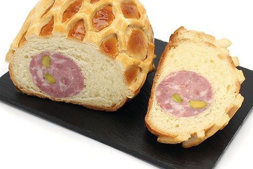 Saucisson brioché pistaché 2% pur beurre porc français 3x400g