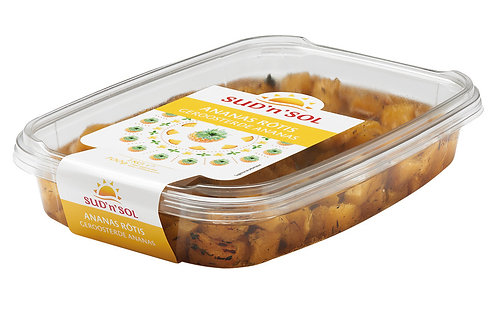 Ananas rôti mariné barquette1kg