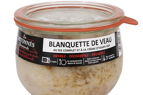 Blanquette de veau normand au riz complet et crème d'Isigny AOP verrine 375g