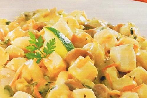 Noix de Saint-Jacques gambas et légumes sauce crémeuse barquette1,8kg