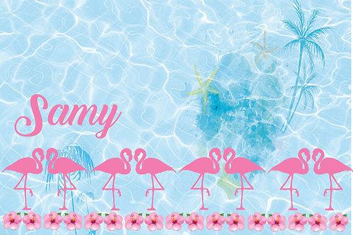 Canga Flamingos Fundo do Mar