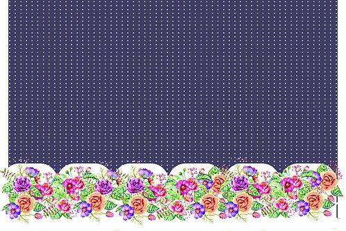 Barrado Flores Fundo Roxo