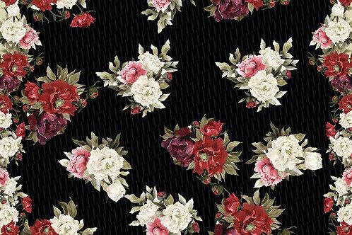 Floral fundo preto