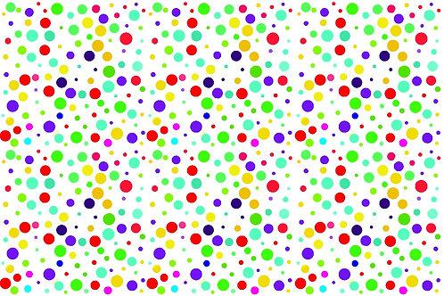 Tecido  Bolinhas Coloridas