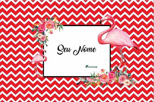 Canga Flamingos Vermelha