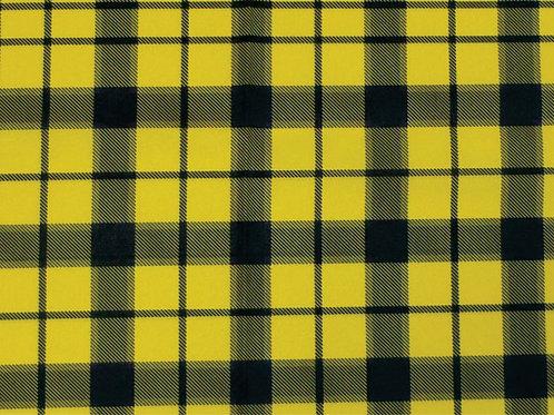 Tecido Xadrez Amarelo