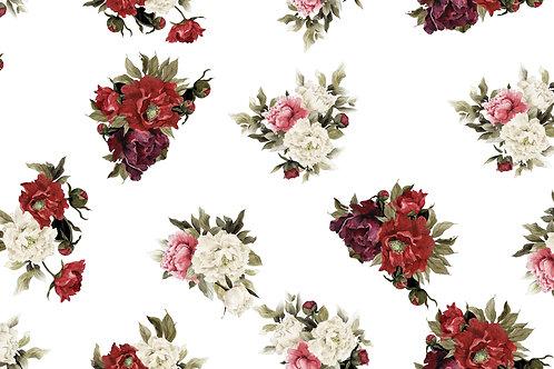 Floral fundo Branco 2253