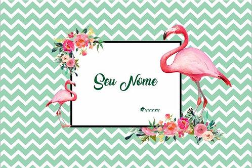 Canga Flamingos Verde