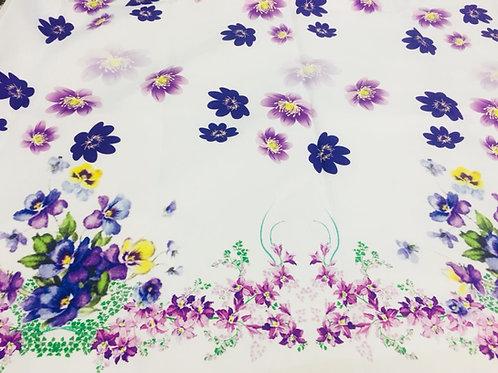 Tecido Barrado Primavera Flores