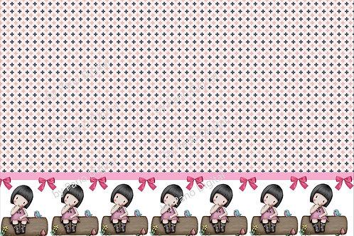 Barrado Boneca  Rosa