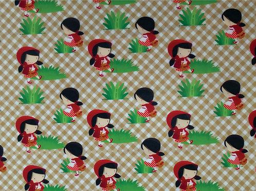 Tecidos Personalizado Chapeuzinho Vermelho  1,00 x1,50