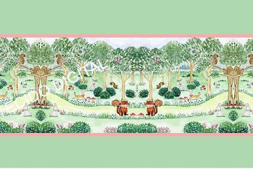 Tecido Digital Floresta Encantada Verde