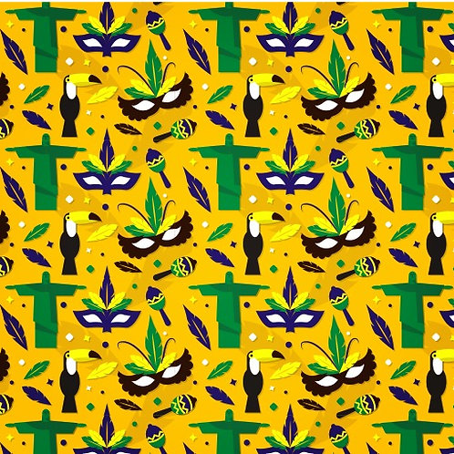 Tecido Estampa Brasil