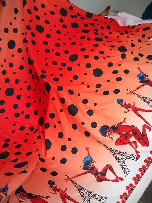 Tecido Barrado Ladybug