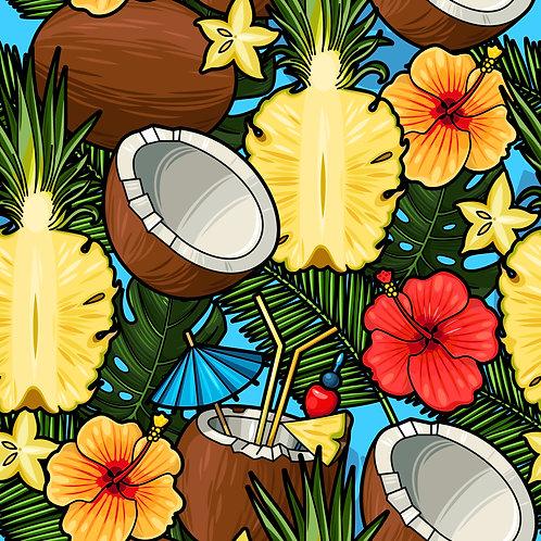 Abacaxi e flores TD1971