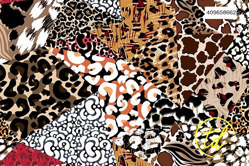 Animal Print Patchwork 409658662