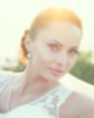 Photo of wedding makeup on boho bride staying at CalaTarida Ibiza