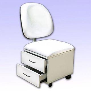כסא פדיקור למטפלת 2 מגירות