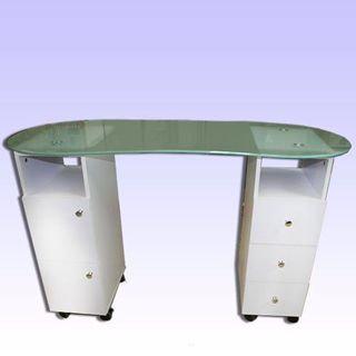 שולחן עם פלטה עליונה מזכוכית