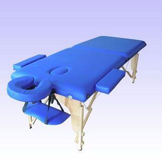 מיטת עיסוי מהודרת מעץ - מתקפלת