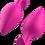 Thumbnail: Bfilled Basic Plus (Magenta) Anal Plug