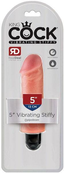 """King Cock 5"""" Vibrating Stiffy (Flesh)"""