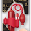"""Thumbnail: Lust Pumper 8"""" Vibrating Pump With Gauge - Mouth (Red)"""