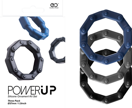 Power Up Silicone Ornament Kit Set Chain (3 Piece)
