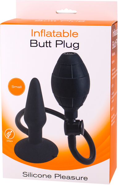Seven Creations Inflatable Butt Plug- Small (Black)