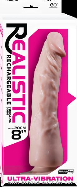 "Realistic 8"" Vibrating Dong (Flesh)"