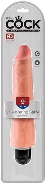 """King Cock 9"""" Vibrating Stiffy (Flesh)"""