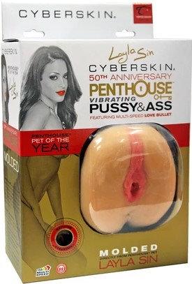 Penthouse Layla Sin Vibrating CyberSkin Pet Pussy And Ass