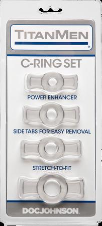 Titanmen Cock Ring Set (Clear)