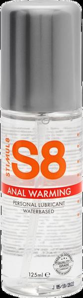 Stimul8 Warming Water Based Anal Lube 125ml