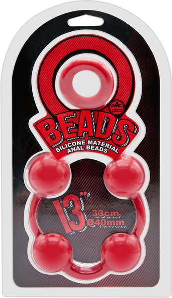 """Excellent Power Anal Beads 13"""" (Red)"""