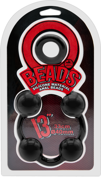 """Excellent Power Anal Beads 13"""" (Black)"""