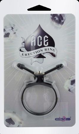 Seven Creation Ace Erection Ring (Black)