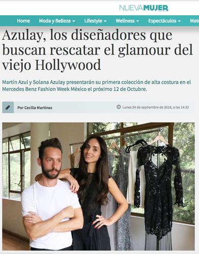 NUEVAMUJER | Azulay, los diseñadores que buscan rescatar el glamour del viejo Hollywood